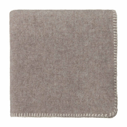 Aspan Blanket beige & off-white, 60% merino wool & 40% lambswool