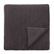 Azoia blanket, dark grey & grey, 100% organic cotton