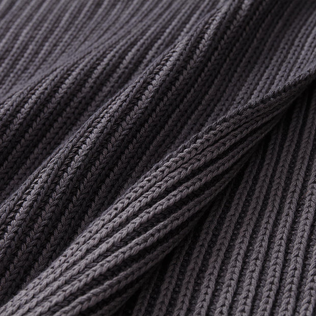 Azoia blanket in dark grey & grey, 100% organic cotton |Find the perfect cotton blankets