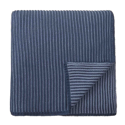 Azoia Blanket grey blue & light grey blue, 100% organic cotton