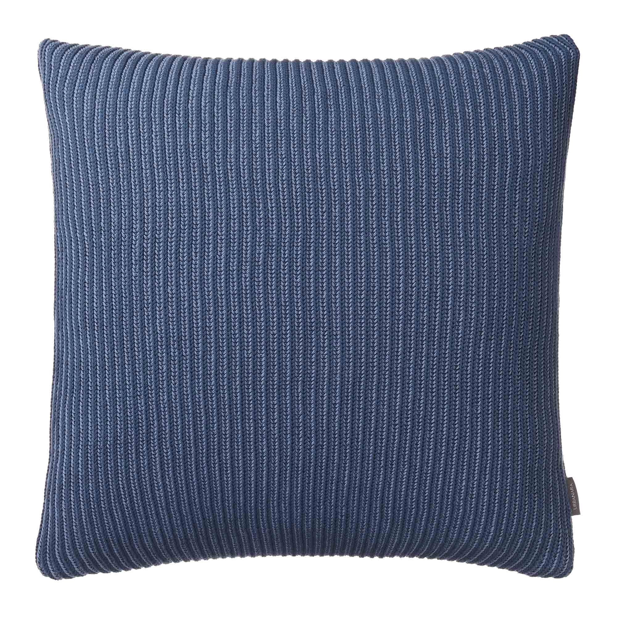 Azoia cushion cover, grey blue & light grey blue, 100% organic cotton