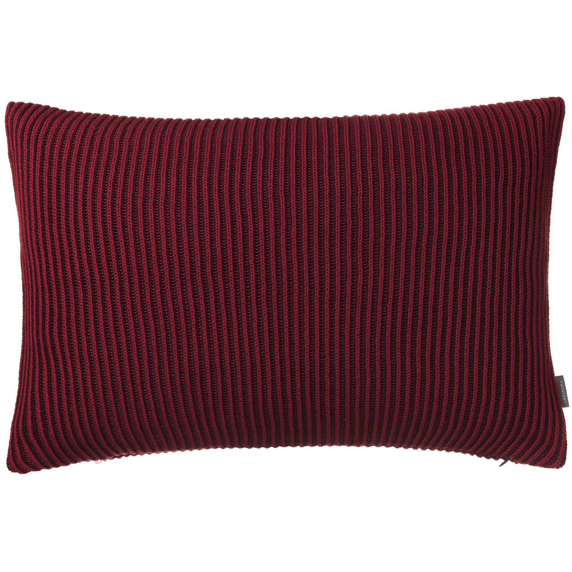 Azoia cushion cover, bordeaux red & dark red, 100% organic cotton
