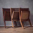 Kamaru chair, cognac, 100% leather & 100% teak wood |High quality homewares