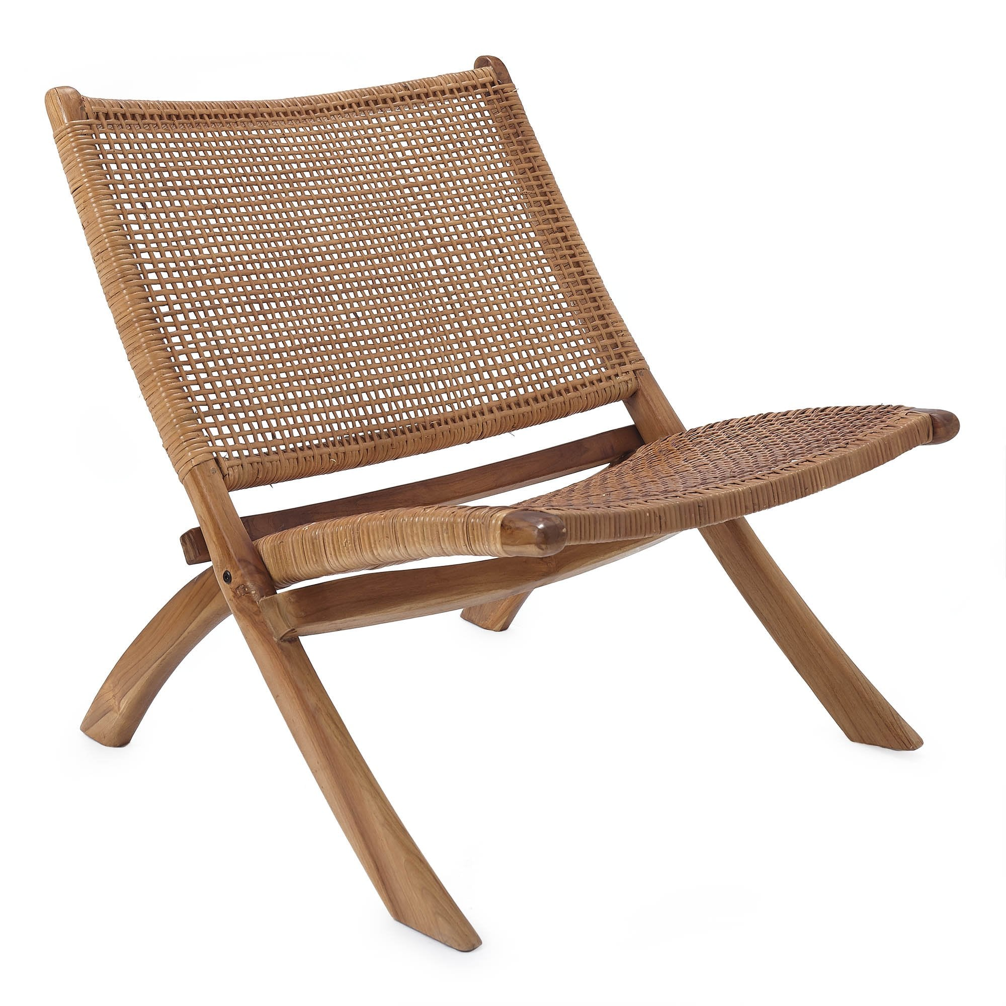 Bakaru chair, natural, 100% rattan & 100% teak wood