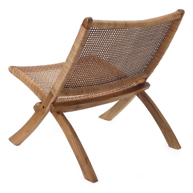 Bakaru Rattan Chair natural, 100% rattan & 100% teak wood | URBANARA small furniture
