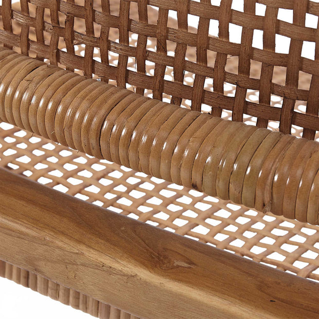 Bakaru chair in natural, 100% rattan & 100% teak wood |Find the perfect small furniture