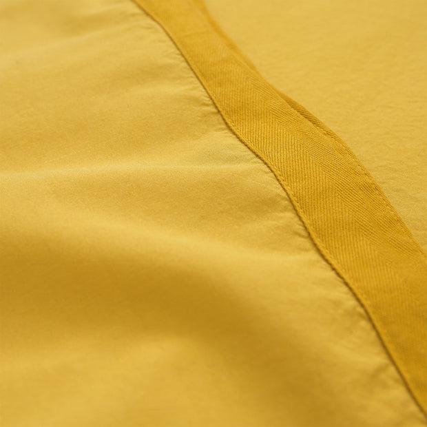 Balaia duvet cover, mustard, 100% combed cotton | URBANARA percale bedding