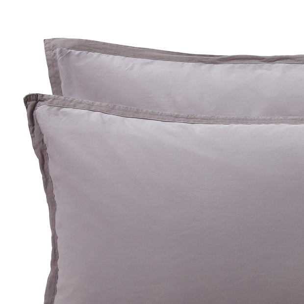 Balaia duvet cover, stone grey, 100% combed cotton | URBANARA percale bedding