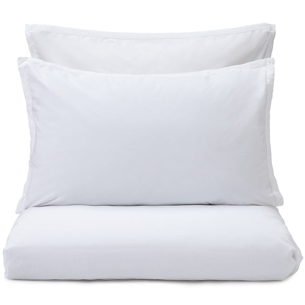 Balaia duvet cover, white, 100% combed cotton