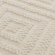 Barod Rug natural white, 100% wool | URBANARA wool rugs