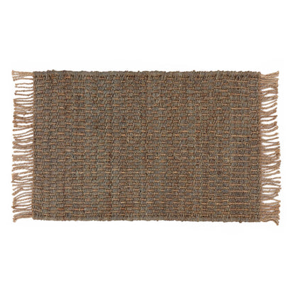Baruva Doormat grey green & natural, 100% jute