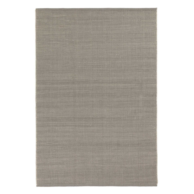 Basni rug, light grey & ivory, 70% wool & 30% cotton | URBANARA wool rugs