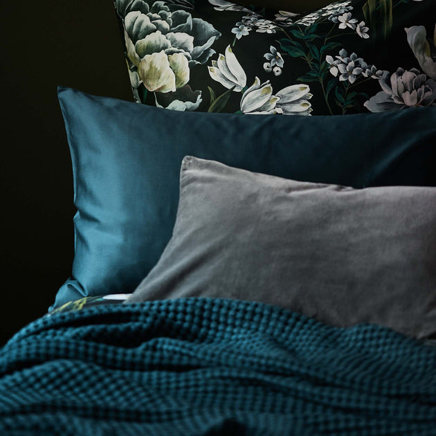 Millau Bed Linen in teal | Home & Living inspiration | URBANARA