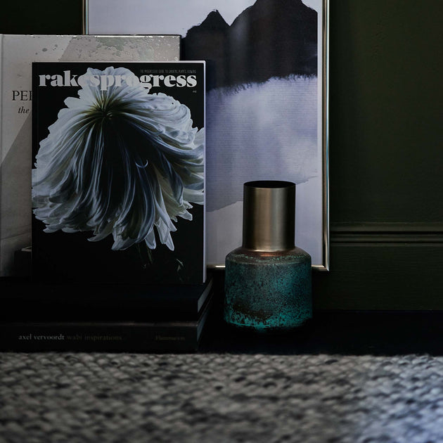 Dapoli Vase in brass & turquoise | Home & Living inspiration | URBANARA