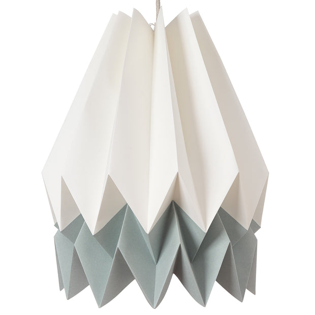 Belia pendant lamp, ivory & aloe green & natural white, 100% paper |High quality homewares
