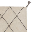 Beni Rug natural white & charcoal melange, 100% wool