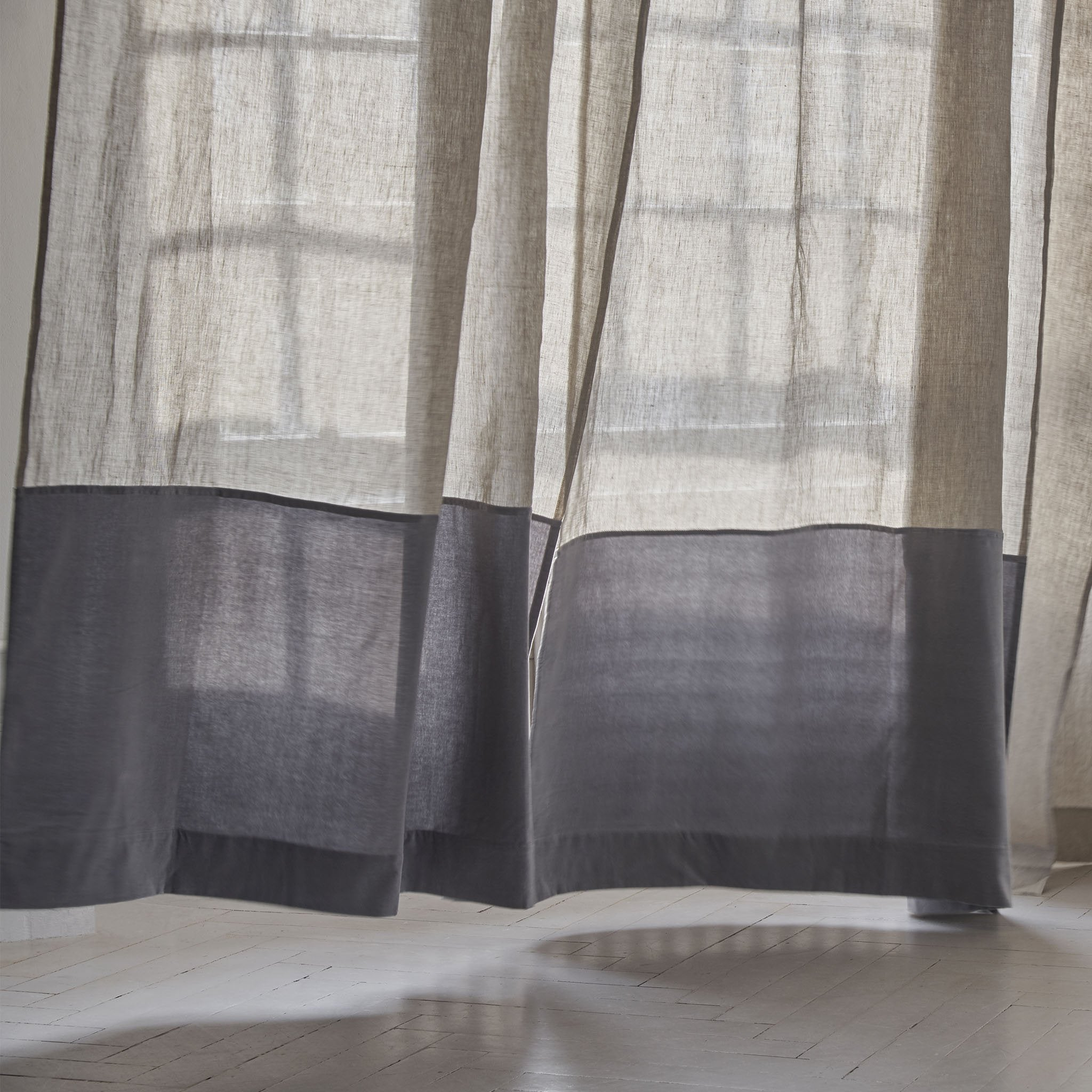 Saveli Curtain in natural & grey | Home & Living inspiration | URBANARA