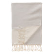 Bolu Hammam Towel light grey & natural white, 50% bamboo & 50% cotton