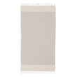 Bolu Hammam Towel in light grey & natural white | Home & Living inspiration | URBANARA