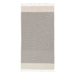 Bolu Hammam Towel [Black/Natural white]