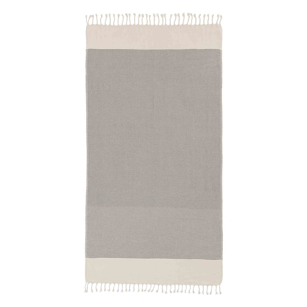 Bolu Hammam Towel in black & natural white | Home & Living inspiration | URBANARA