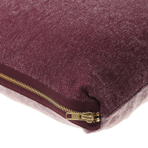 Calcada cushion cover, bordeaux red & white, 60% cotton & 40% acrylic |High quality homewares