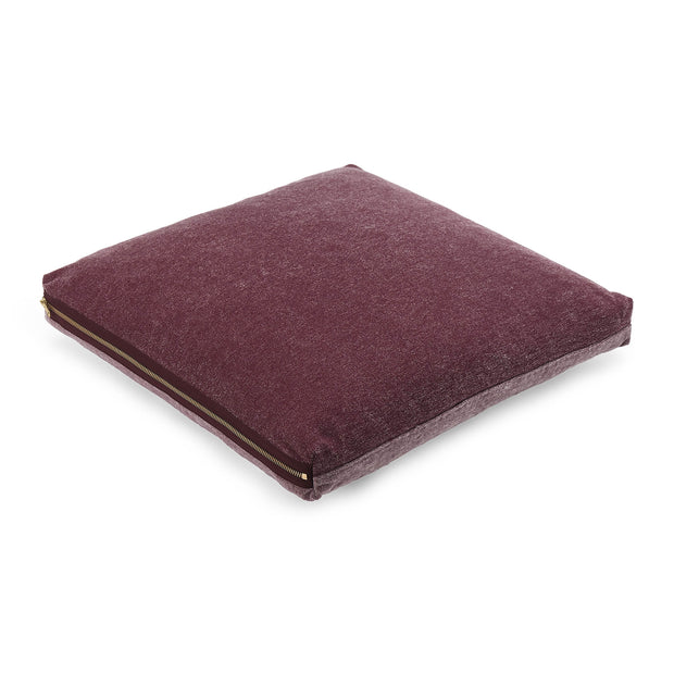 Calcada cushion bordeaux red & white, 60% cotton & 40% acrylic