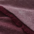 Calcada bedspread, bordeaux red & white, 60% cotton & 40% acrylic | URBANARA bedspreads & quilts