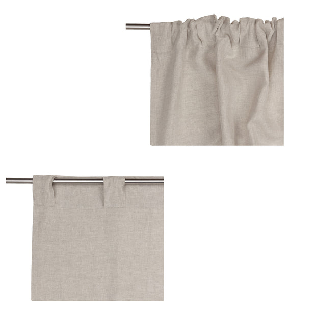Cataya Linen Curtain natural & charcoal, 100% linen | Find the perfect curtains