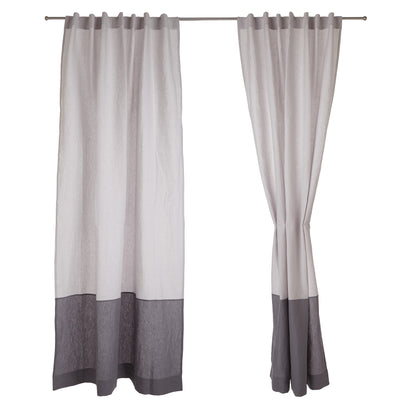 Cataya Linen Curtain in light grey & charcoal | Home & Living inspiration | URBANARA