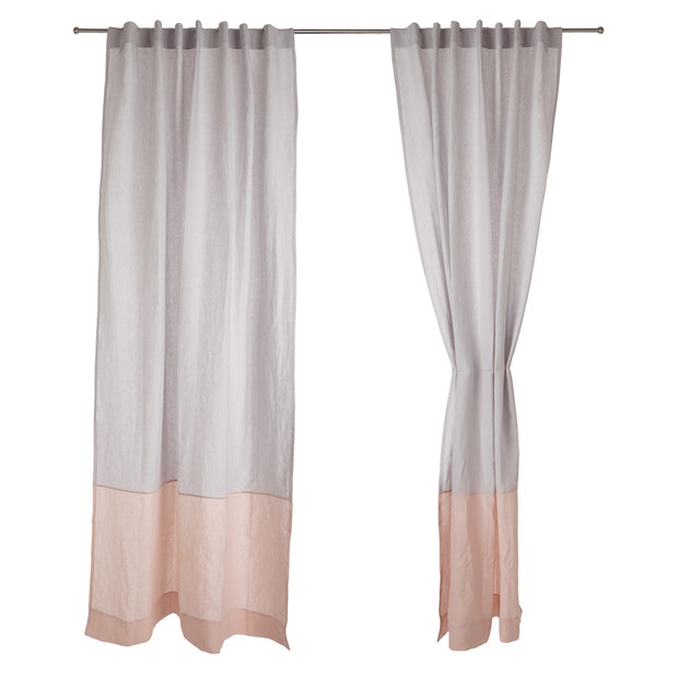 Cataya Linen Curtain in light grey & light pink | Home & Living inspiration | URBANARA