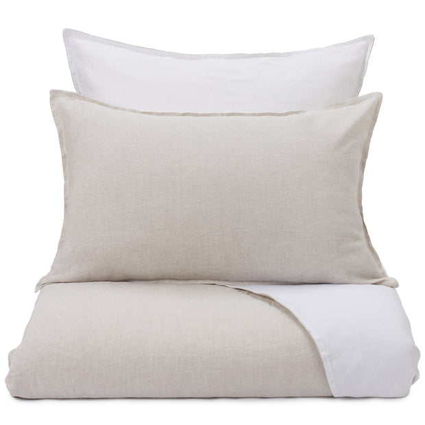 Cercosa Bed Linen natural & white, 100% linen