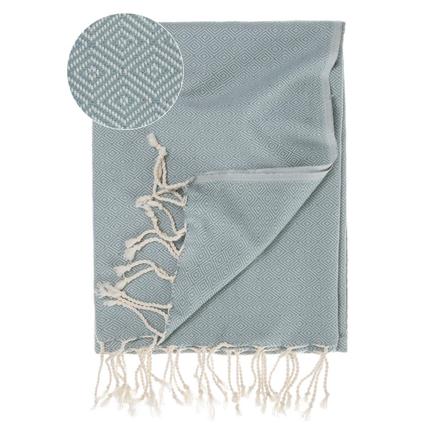 Cesme Hammam Towel green grey & white, 100% cotton