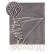 Cesme Hammam Towel grey & white, 100% cotton