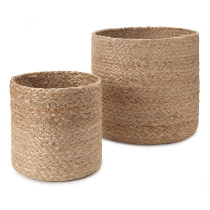 Chenab Basket Set natural, 100% jute