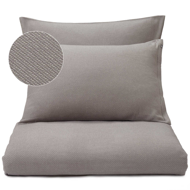 Coelho pillowcase, grey & natural white, 100% cotton