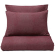 Coelho duvet cover, bordeaux red & natural white, 100% cotton | URBANARA flannel bedding