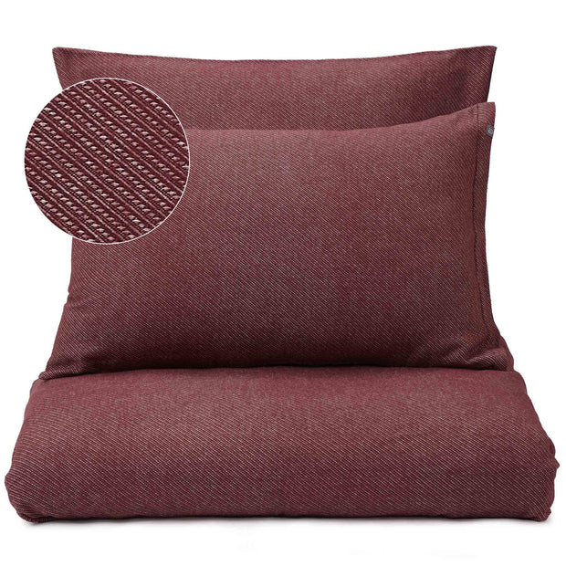 Coelho duvet cover, bordeaux red & natural white, 100% cotton