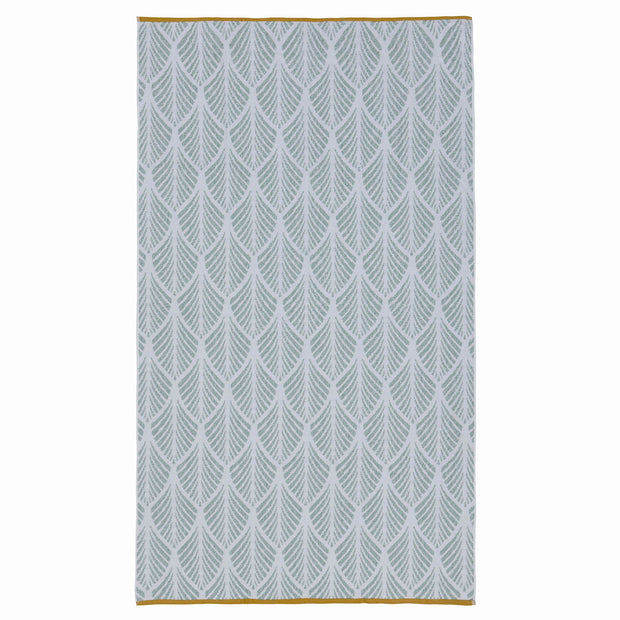 Coimbra beach towel, light grey green & white, 100% cotton