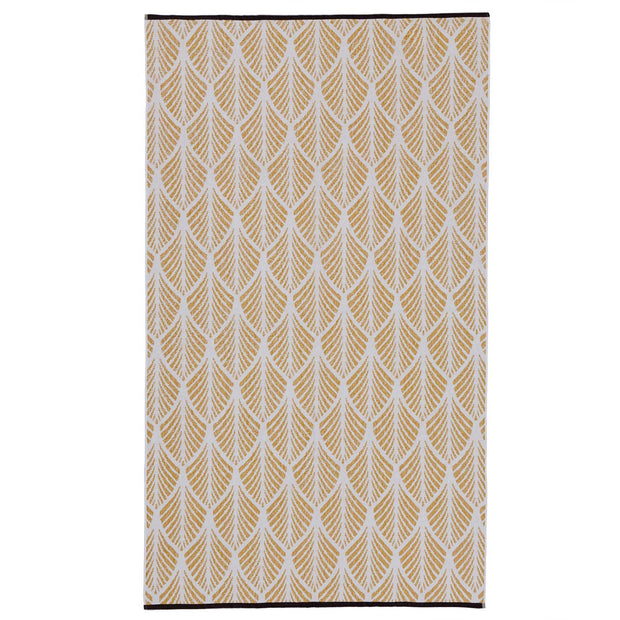 Coimbra beach towel, mustard & white, 100% cotton
