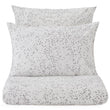 Connemara pillowcase, white & grey, 100% cotton