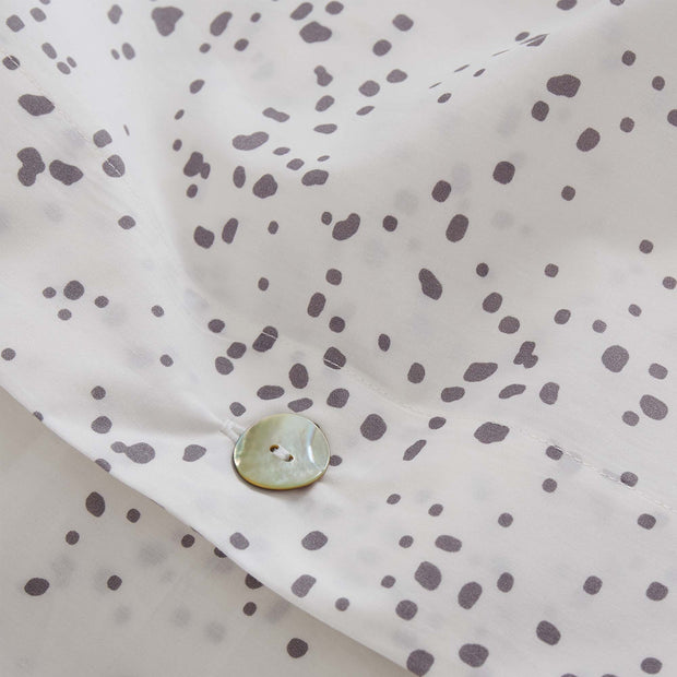 Connemara pillowcase, white & grey, 100% cotton |High quality homewares