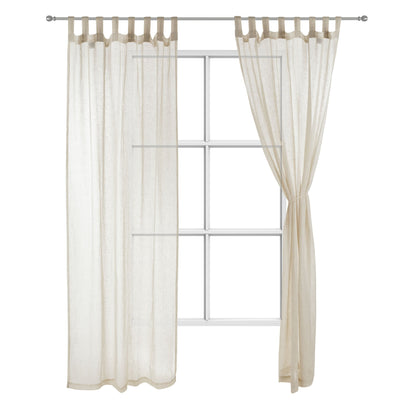 Cotopaxi Curtain Set natural, 100% linen