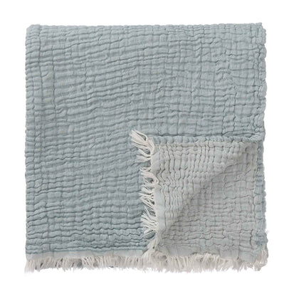 Couco Blanket aloe green & light green grey, 100% cotton