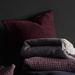 Ruivo cushion cover, bordeaux red, 100% cotton |High quality homewares
