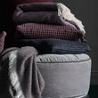 Veiros Sao Cushion in charcoal | Home & Living inspiration | URBANARA