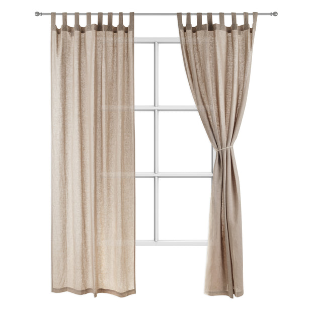 Cuyabeno Curtain taupe, 100% linen