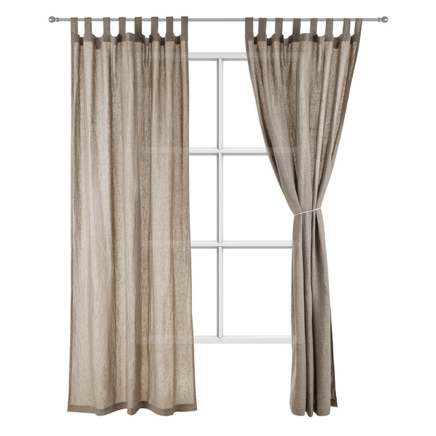 Cuyabeno Linen Curtain taupe, 100% linen