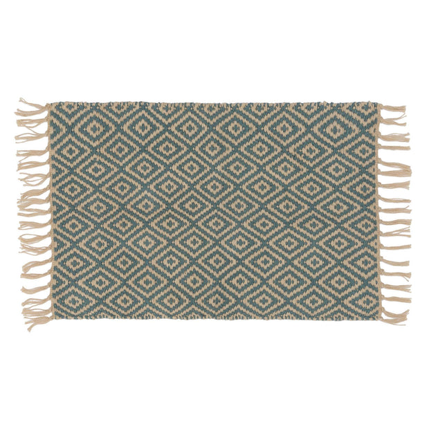Dasheri Doormat green grey & off-white, 100% jute