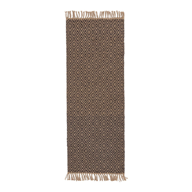 Dasheri Runner charcoal & natural, 100% jute | URBANARA runners